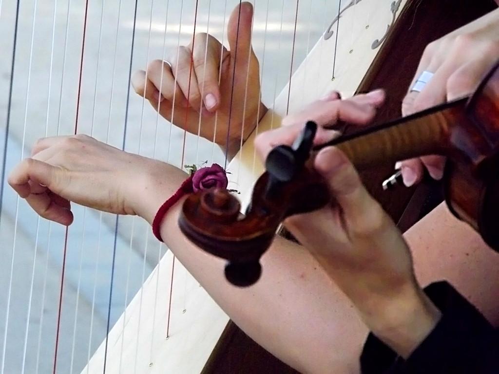 Elena Aker, arpista. Concierto de arpa y violín