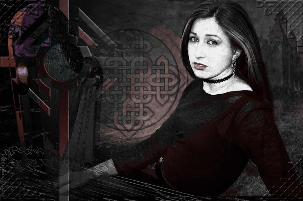 Elena Aker, arpista. Aker mundo celta