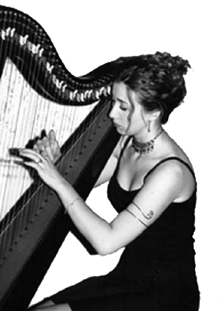Elena Aker, arpista. Elena en concierto de noche